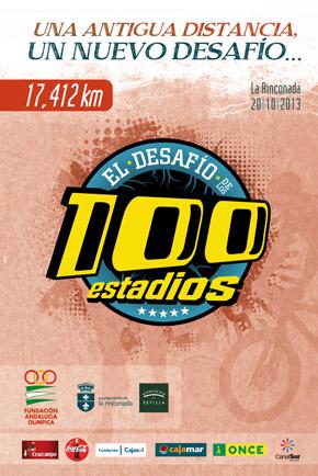 Cartel El Desafío de los 100 estadios 2013