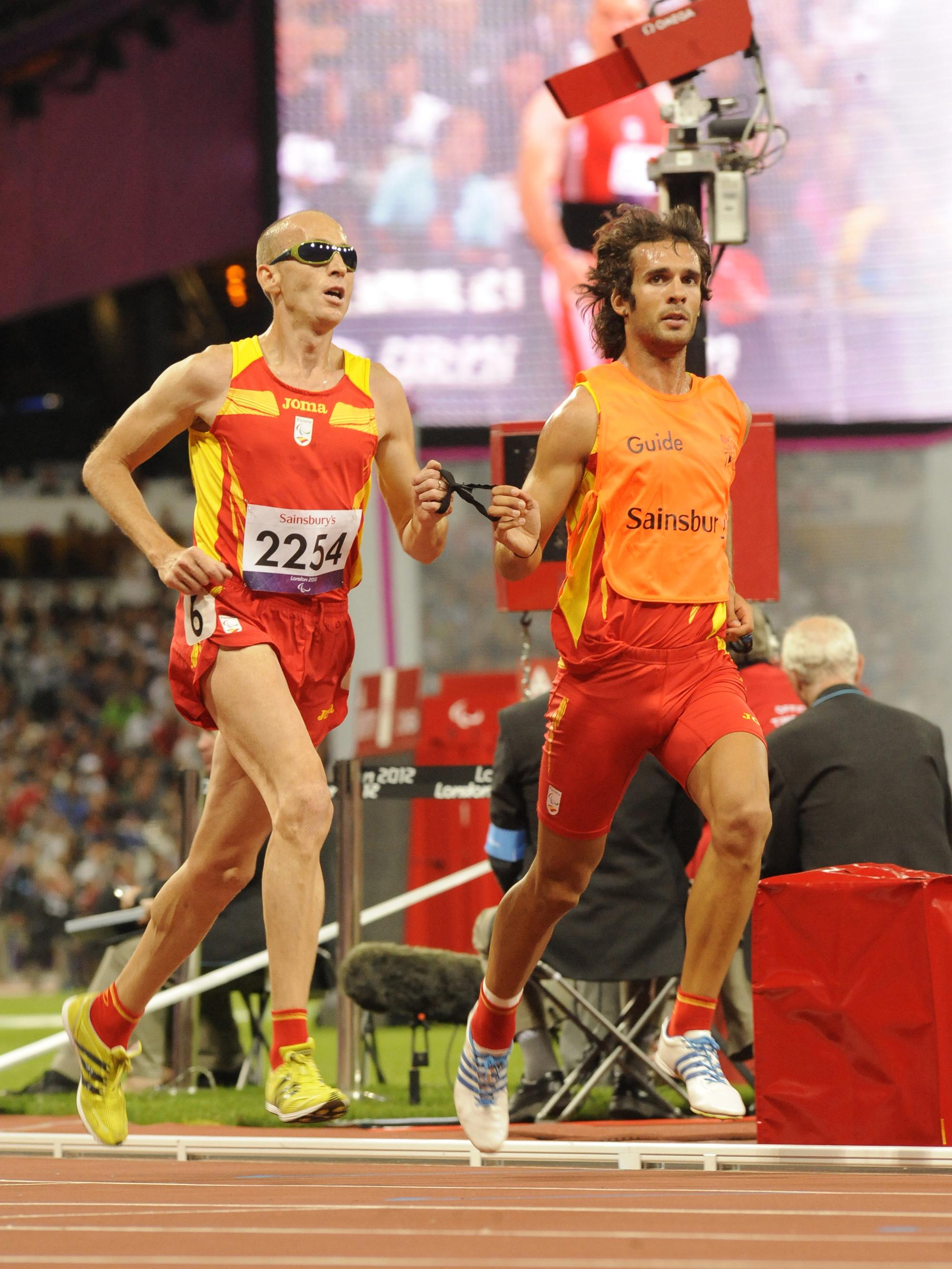 Ricardo de Pedraza en la final de los 5000 metros.