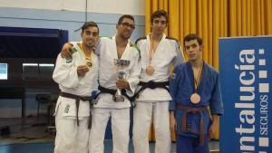 Fotografía de los premiados en el Campeonato de España de judo para Ciegos y Deficientes Visuales