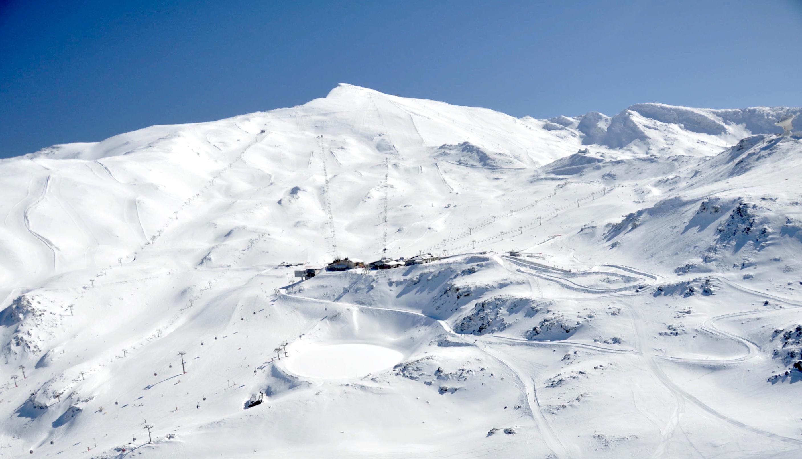 Imagen panorámica de Sierra Nevada