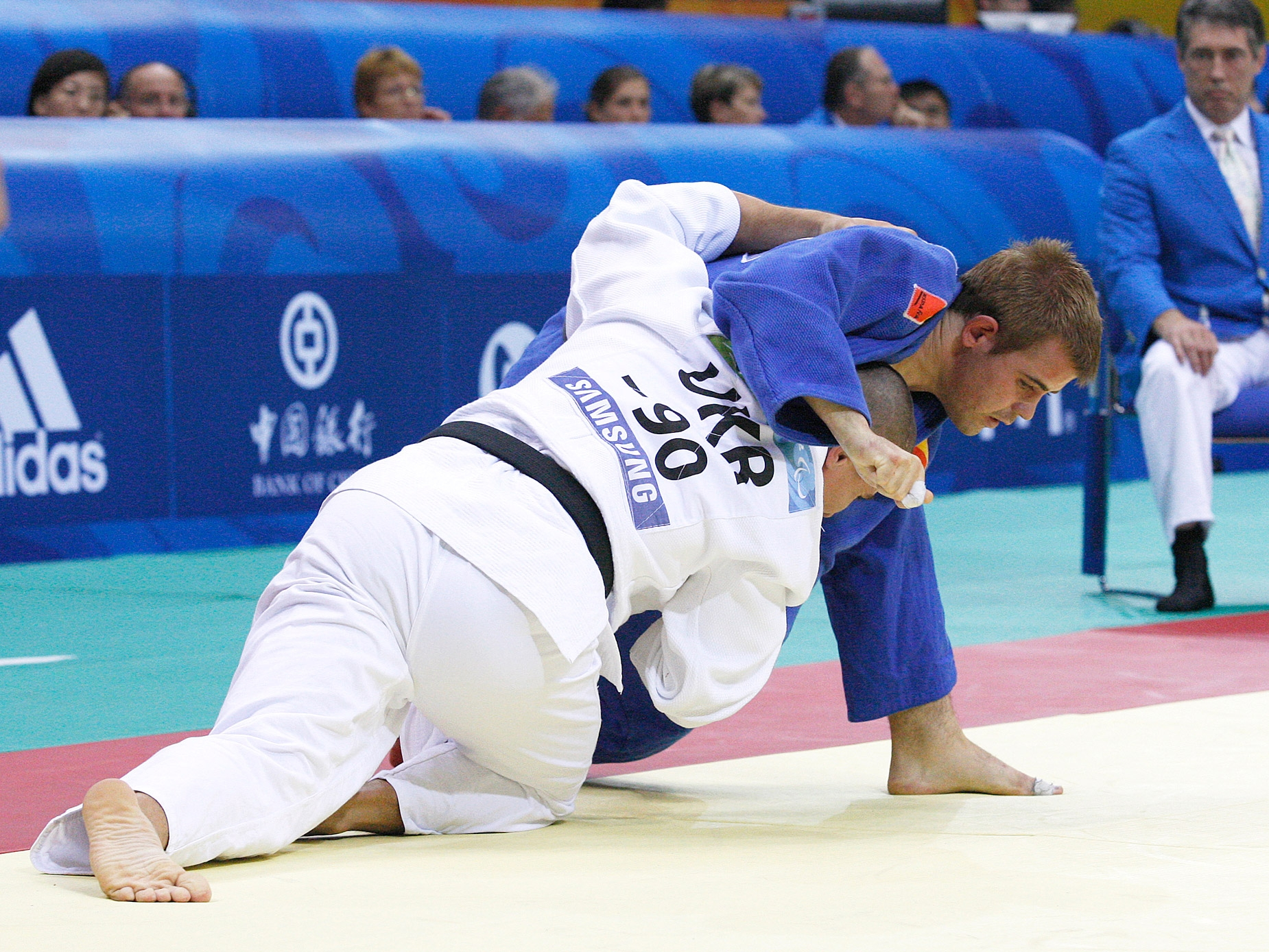 Abel Vázquez, compitiendo en Judo