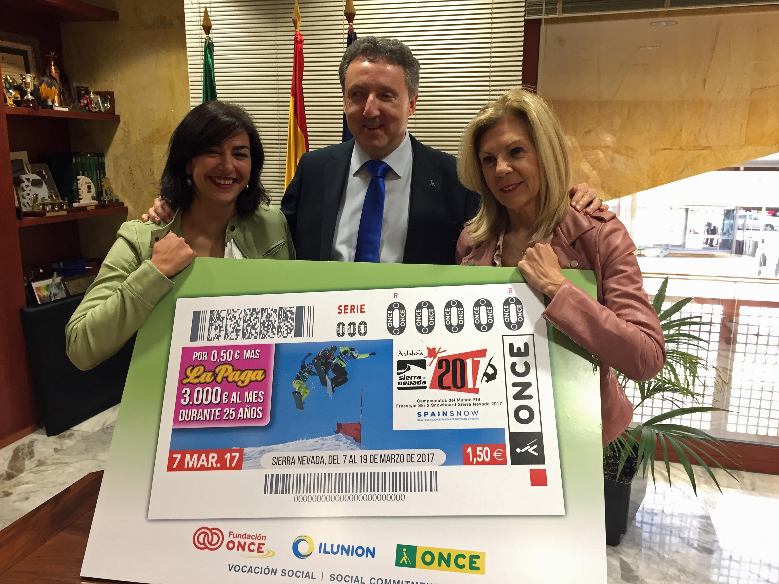 Presentación del cupón en la sede de la Consejería de Turismo y Deportes de la Junta de Andalucía