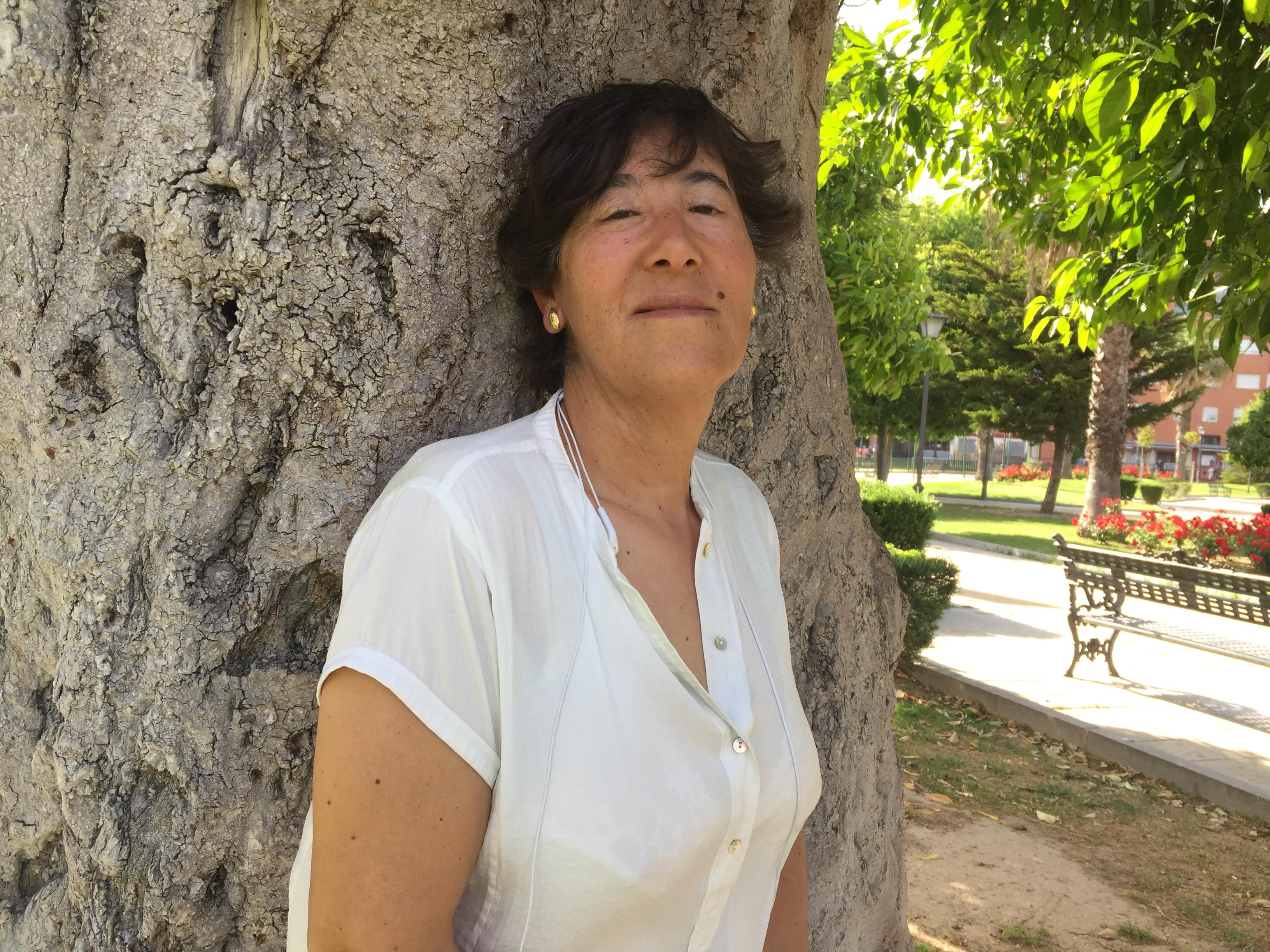 Ana María Estrada en el Parque de los Perdigones (Sevilla)