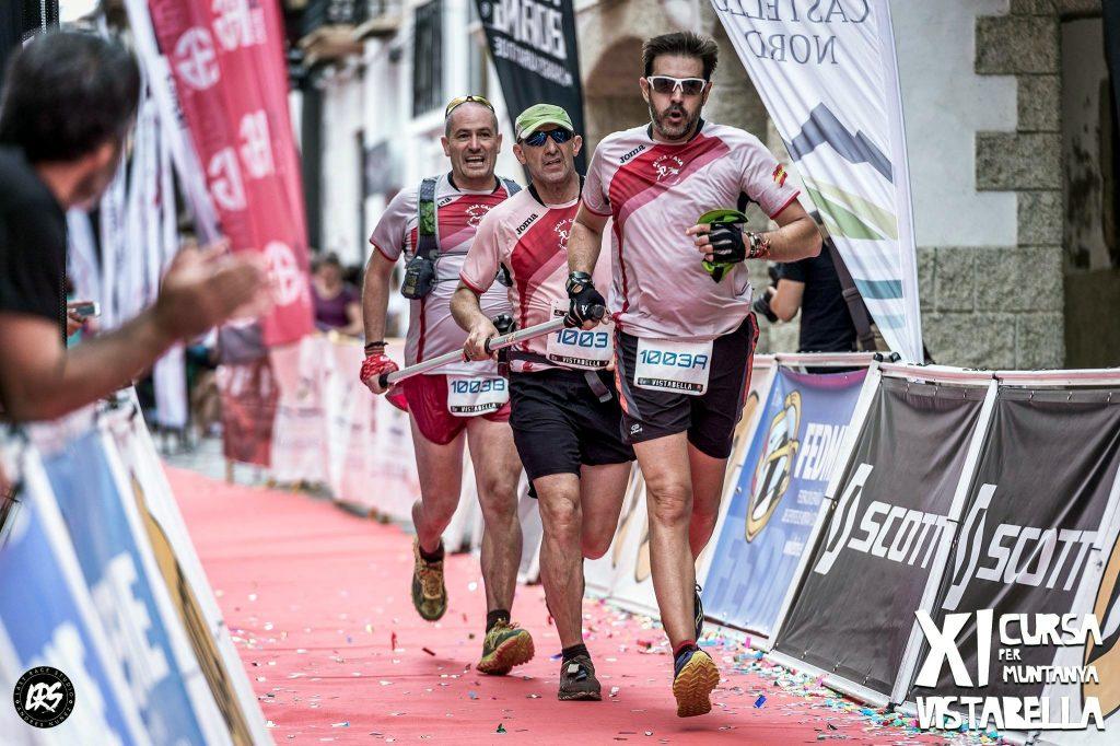 Luque compitiendo en la final del campeonato de España de carreras de montaña (Vistabella- Castellón)