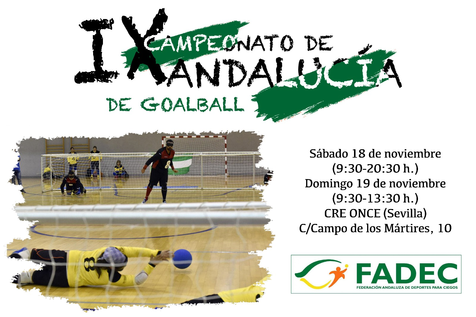 Cartel del IX Campeonato de Goalball de Andalucía