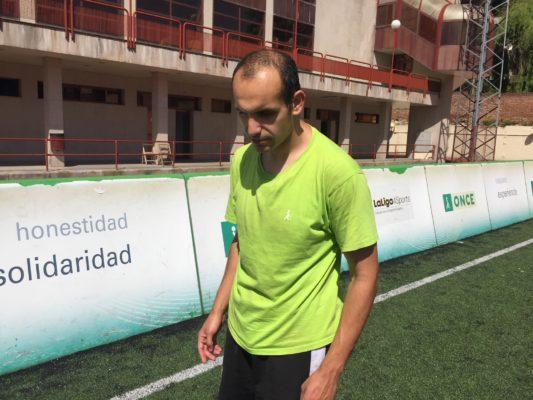 El granadino confía en poder participar en el Mundial de Fútbol de Ciegos que acogerá Madrid en junio