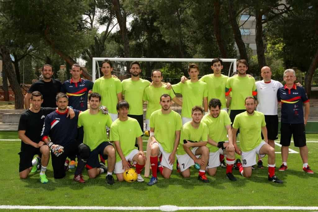Los integrantes del equipo de España en el Mundial de Fútbol para Ciegos