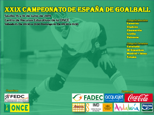 Cartel oficial del Campeonato de Goalball