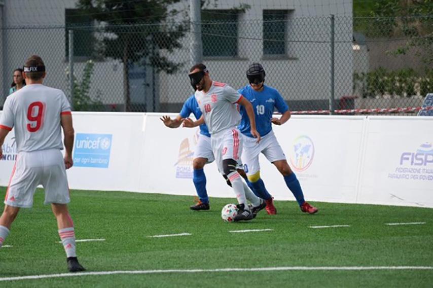 Dominio español en el partido contra Italia
